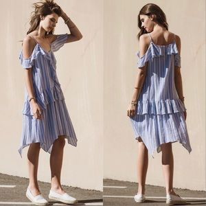 Moon River Ruffled Camisole Dress